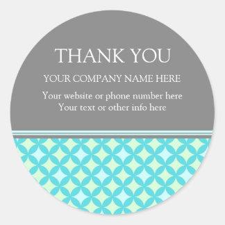 Firmennamen-Minzen-aquamarines Muster Business Runder Aufkleber