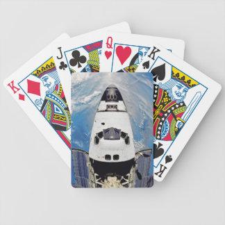 Fisch-Augen-Ansicht-Raumfähre-Atlantis-Umlaufbahn Poker Karten