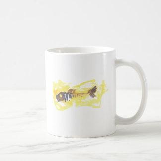 Fisch-Entwurf - rotes Thema Kaffeetasse