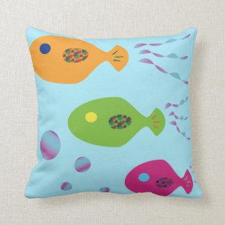 Fisch-Familie Kissen