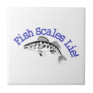 Fisch-Skala-Lüge Kleine Quadratische Fliese