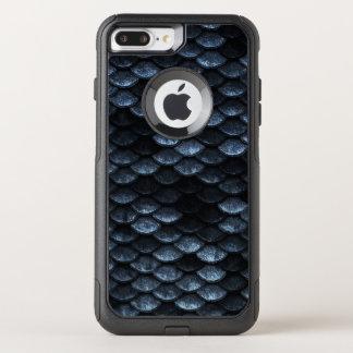 Fisch-Skala-Muster-tiefe blaue Schatten