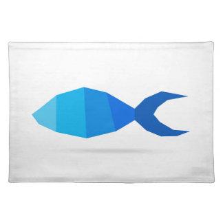 Fischblau Tischset