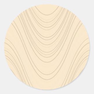 Fischcremesuppen-Sinus-Wellen Runder Aufkleber