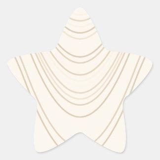 Fischcremesuppen-Sinus-Wellen Stern-Aufkleber