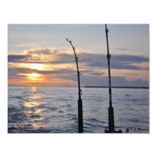 Fische an! 10,8 x 14 cm einladungskarte