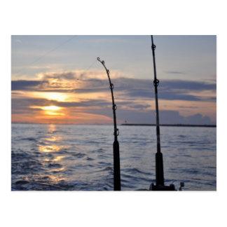 Fische an! postkarte