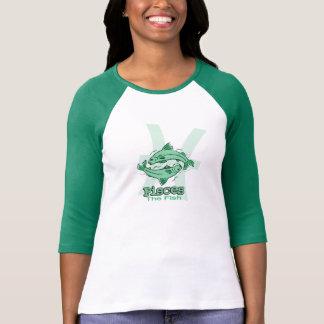 Fische der Fischtierkreisastrologie-Seegrün-T - T-Shirt