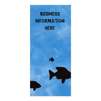 Fische im tiefen blauen Kalender-Lesezeichen des Bedruckte Werbekarte