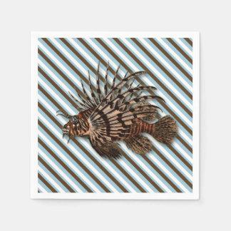 Fische Lionfishwassermeerwasseraquarium Serviette