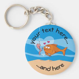 Fische und Köder in der Liebe Schlüsselanhänger