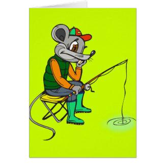 Fischen-Maus Mitteilungskarte