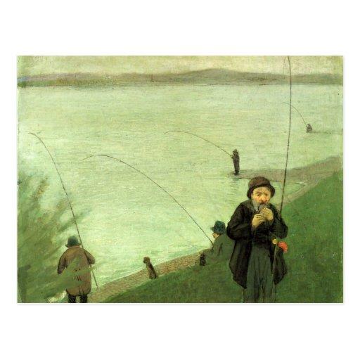 Fischen-Postkarte