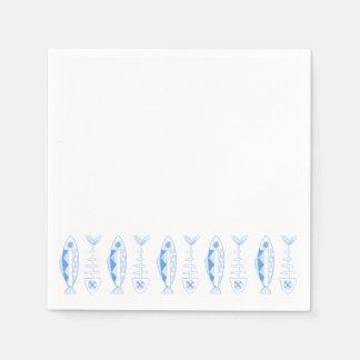 Fischen Sie Dekor, verschiedenes Papierserviette