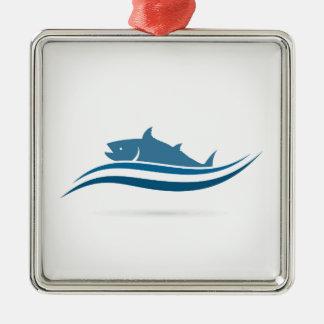 Fischen Sie ein icon2 Silbernes Ornament