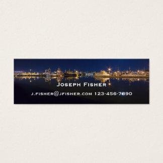 Fischer am Ende nachts in Ballard, Seattle Mini Visitenkarte