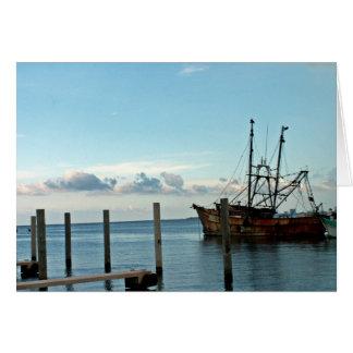 Fischerboot Grußkarte