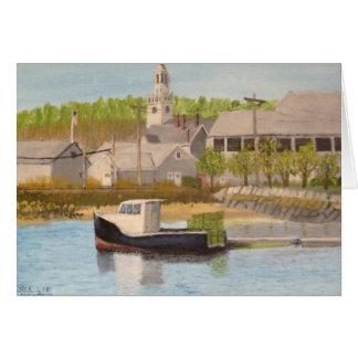 Fischerboot - Rockport Mass. Karte