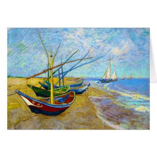 Fischerboote auf dem Strand durch Vincent van Gogh Karte
