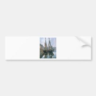 Fischerboote bei Honfleur durch Claude Monet Autoaufkleber