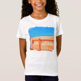 Fischerei feste Linien zz Angelrute blauen orange T-Shirt