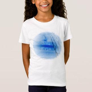 Fischerei großen blauen und weißen Stangentraum T-Shirt