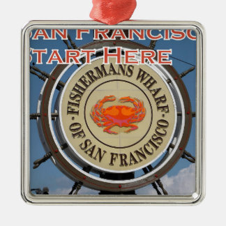 Fishermans Kai San Francisco Kalifornien USA CA Silbernes Ornament