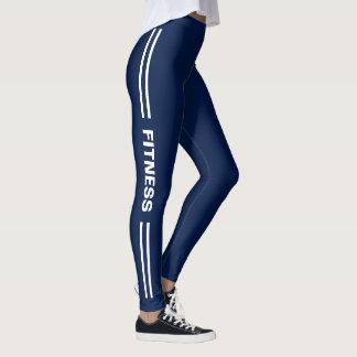 Fitness-Marine-Blau mit dem Trendy Doppelten Leggings
