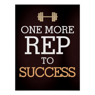 Fitness Workoutmotivation Poster
