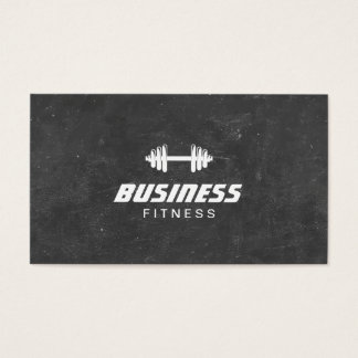 Fitnessdumbbell-Tafel-persönlicher Trainer Visitenkarten