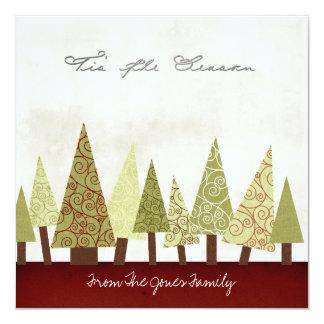 Flache Weihnachtsgruß-Karten Quadratische 13,3 Cm Einladungskarte
