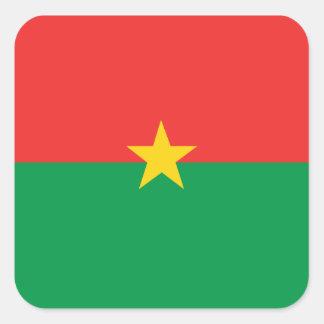 flag_burkina_farso quadratischer aufkleber