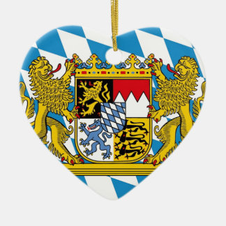Flag of Bavaria Keramik Ornament