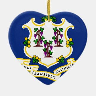 Flag_of_Connecticut Keramik Ornament