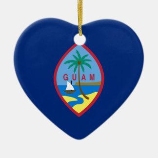 Flag_of_Guam Keramik Ornament