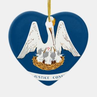 Flag_of_Louisiana Keramik Ornament
