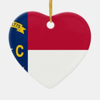 Flag_of_North_Carolina Keramik Ornament