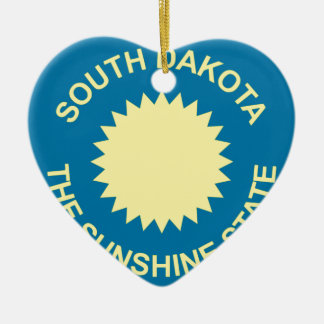 Flag_of_South_Dakota Keramik Ornament