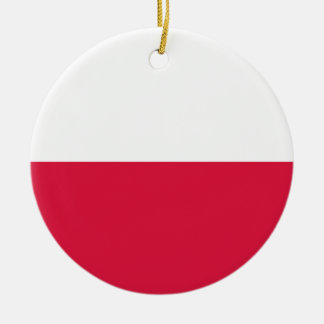 Flaga Polski - polnische Flagge Keramik Ornament