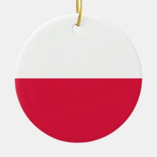 Flaga Polski - polnische Flagge Rundes Keramik Ornament