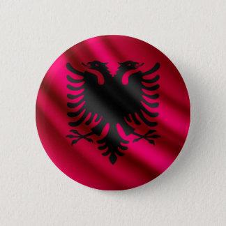 Flagge Albaniens wellenartig bewegender pinback Runder Button 5,7 Cm