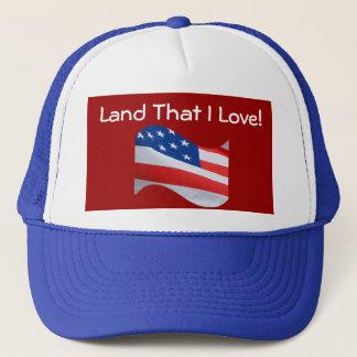 Flagge, Amerika, Land diese i-Liebe! Truckerkappe