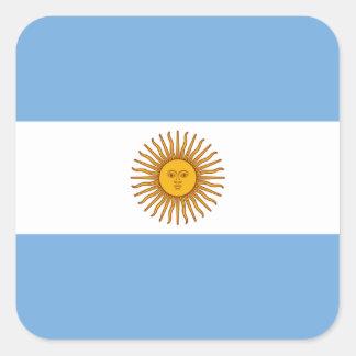 Flagge: Argentinien Quadratischer Aufkleber