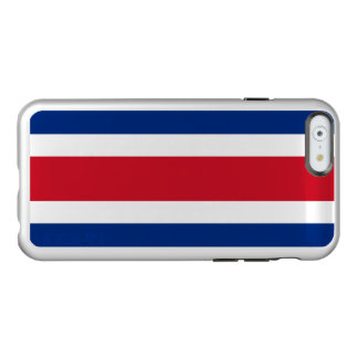 Flagge Costa Rica silbernen iPhone Falles Incipio Feather® Shine iPhone 6 Hülle
