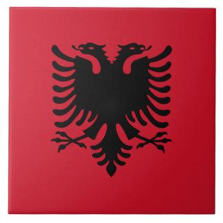 Flagge der Albanien-Keramik-Fliese Große Quadratische Fliese