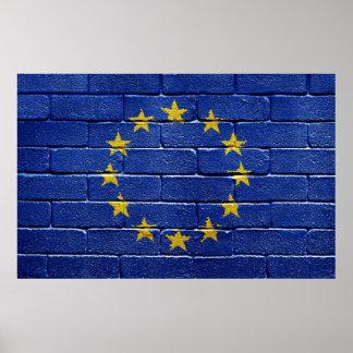 Flagge der europäischen Gewerkschaft Poster