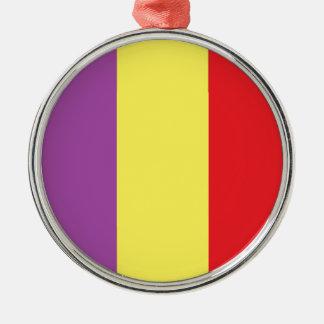 Flagge der spanischen Republik - Bandera Tricolor Silbernes Ornament