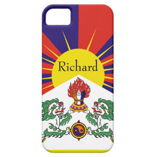 Flagge der Tibet- oder Schnee-Löwe-Flagge iPhone 5 Schutzhülle