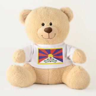 Flagge der Tibet- oder Schnee-Löwe-Flagge Teddy