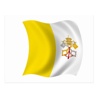 Flagge der Vatikanstadt Postkarte